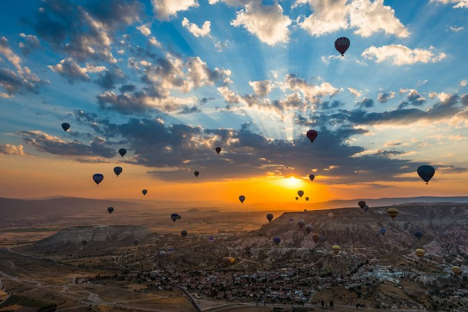 Cappadocia Hot Air Balloon Ride & Red Tour